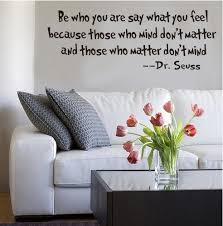 motto wall stickers be who you are by dr seuss home decoration
