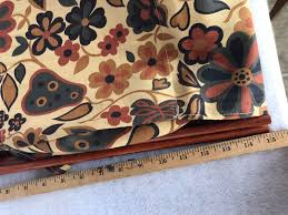 vintage fl pears folding sewing knitting basket cloth bag wood frame stand