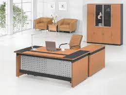 corner office table. Designer Office Table Unique Shape Floating Glass Curve Corner Wooden