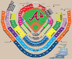 Suntrust Park Seating Chart With Rows Suntrust Seating Chart Braves Stadium Layout Atlanta Braves