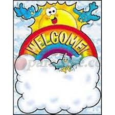 Welcome Chart Images Welcome Rainbow Grade Level Pre K 3 Chart