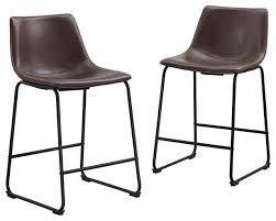 26 faux leather counter stools in brown set