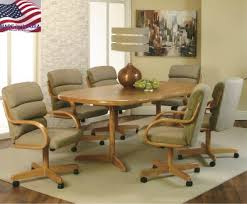 dining room chairs with wheels regarding castered kitchen furniture ideas 9