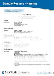 resume examples avoid the student nurse resume template of sample nurses resume