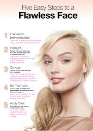 flawless face face makeup step by step pictures