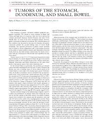 acs tumors of the stomach duodenum and small bowel