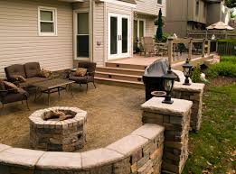 stamped concrete patio with fireplace. Images About Patio Stamped Concrete Fire Newest Decks With Recessed Pits Fireplace H