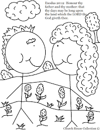 Small Picture Honor Your Father And Mother Coloring Page esonme