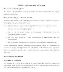 Free Employees Handbook Personnel Manual Template Free Employee Handbook Template Company