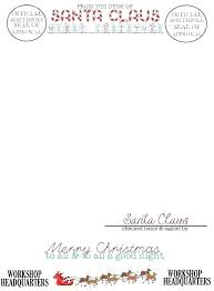 Free Letter From Santa Word Template Official Letter From Santa Template