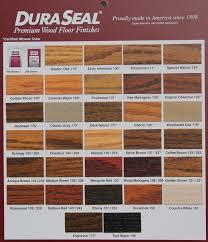 Duraseal Stain Chart Leese Flooring Supplies Inc