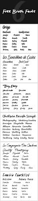 86 Best Brush Script Fonts Images On Pinterest Brush Script
