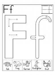 letter f worksheet for kindergarten and preschool 222x300