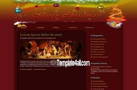 Free Christmas Website Templates Red Christmas Website Template Free Download