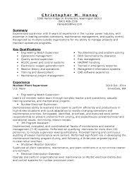 Surprising Plant Supervisor Resume 48 On Sample Of Resume with Plant  Supervisor Resume