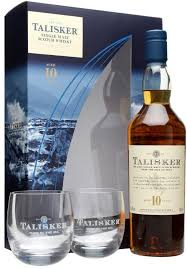 in the photo image talisker 10 years old gift box with 2 gles 0 7