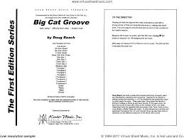 Beach Big Cat Groove Sheet Music Complete Collection For Jazz Band