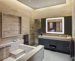 Art Deco Bathroom Cabinets Art Deco Bathroom Cabinets With Contemporary Marble Tub Surround