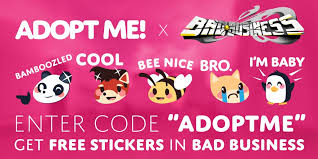 Free legendary adopt me no password Adopt Me On Twitter You Can Get Free Adopt Me Stickers In Ruddevmedia S Bad Business By Using The Code Adoptme In Game Bad Business Https T Co 9n8zqcrxu3 Https T Co Dpyquodcmc