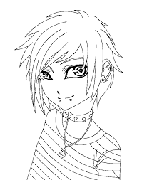Small Picture New Emo Coloring Pages 14 For Your Coloring for Kids with Emo