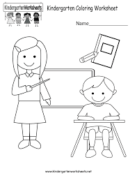 color worksheets for kids. Simple For Kindergarten Coloring Worksheet Printable Throughout Color Worksheets For Kids D