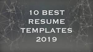 10 Best Resume Templates 2019 Creative Touchs