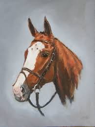 horse head canvas painting photo 6