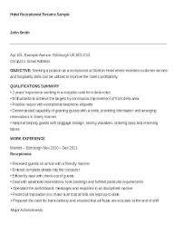 Front Desk Receptionist Resume Sample Fresh Reception Resume Unique Front Desk Receptionist Resume
