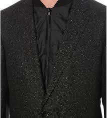 hugo boss waistcoat detail wool blend jacket men black hugo boss