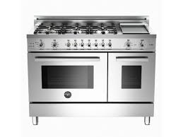 Professional Ovens For Home 48 6 Burner Griddle Electric Self Clean Double Oven Bertazzoni