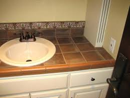 diy tile bathroom countertop counter