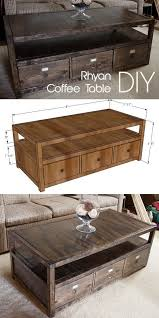 check out the tutorial on how to make a diy rhyan coffee table looks
