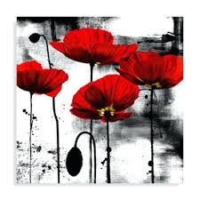 red wall decor line of poppies wall art red white metal red fish wall decor