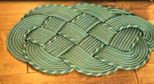 climbing rope rug more diy nautical mat