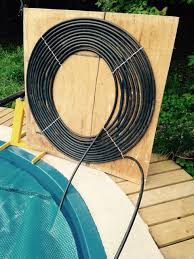 picture of diy 1 hour solar pool heater