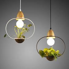 simple chandelier lighting. Modern Simple Wood\u0026Iron Chandelier Lighting 3 Kinds Wrought Iron Plant Pot Bar Restaurant Balcony Creative Suspension Lamp Light-in Pendant Lights From S
