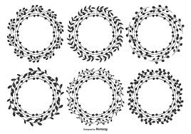 かわいい手描きの葉のフレームアイコン 画像材料ダウンロード デザイン