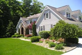 Exterior Townhouse Landscaping Ideas For Front Yard With - Home landscape design