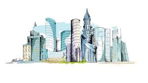 modern architecture skyscrapers sketches. Interesting Modern Modern Urban Colored Doodle Sketch City Center With Skyscraper Business  Apartment Building Cityscape Animated Available In 4k UHD FullHD And HD 3d Video  To Architecture Skyscrapers Sketches I