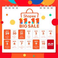 11 11 Calendar Shopee Blog Shopee Singapore