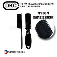 dkc plastic nylon mini fade brush shaving brush for barber and salon black