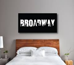 New York Skyline Wallpaper For Bedroom Broadway Sign Canvas Wall Art Choose Any Colors Shop Wunderkinds