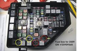 gmc acadia forum fuse and relay box options on my 08 acadia sle which has fog lights circled in yellow the fuel pump relay and fuel pump fuse are circled in red as well as the spot where the new