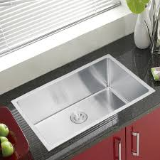stainless steel undermount sink. Water Creation SS-U-3018B 30-Inch By 18-Inch Under Mount Single Bowl Stainless Steel Kitchen Sink With Coved Corners - Undermount