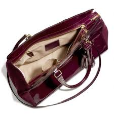 Lyst - Coach Legacy Pinnacle Large Lowell Satchel in Polished Calf Leather  with Felt in Purple