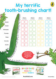 Teeth Brushing Chart Roald Dahl Opposites Tooth Brushing Chart Penguin Books