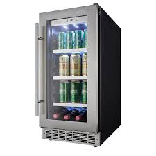 Under Counter Beverage Centers Whirlpool 24 In W 58 Cu Ft Dual Zone 12 Bottle Wine Cooler And