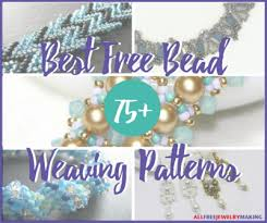 Bead Weaving Patterns Delectable 48 Best Free Bead Weaving Patterns AllFreeJewelryMaking