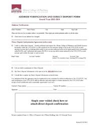 Direct Deposit Verification Direct Deposit Verification Form Printable Form Templates To