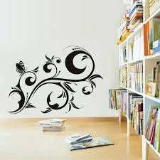 Library Decoration Chart Library Decoration Wall Sticker Butterflies Flower Diy
